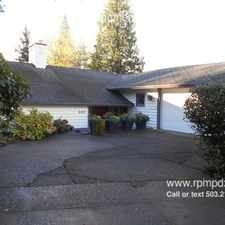Rental info for 3917 SW Council Crest Drive in the Southwest Hills area