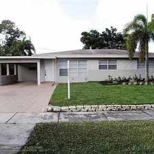 Rental info for single family home in the Fort Lauderdale area