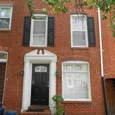 Rental info for 1733 Bank St in the Upper Fells Point area