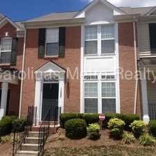 Rental info for Wonderful townhome! in the Brown Road area