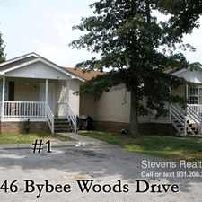 Rental info for 46 Bybee Woods Drive