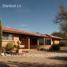 Rental info for 36656 N. Stardust Ln.