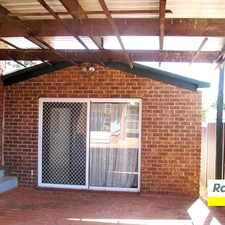 Rental info for 4 bedroom granny flat in the Edensor Park area
