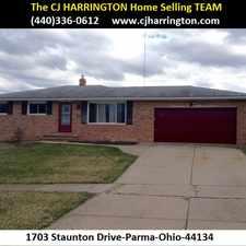Rental info for Ohio Real Estate- 1703 Staunton Dr(Parma, Ohio 44134)(440)336-0612 or WWW.CJHARRINGTON.COM