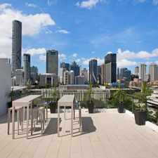 Rental info for STUNNING 2 BEDROOM APARTMENT LOCATED IN BRAND NEW FLEET LANE in the South Brisbane area