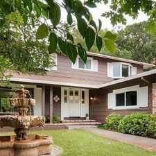Rental info for A beautiful and very private home in the San Rafael Park Neighborhood. Parking Available!