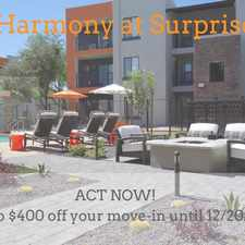 Rental info for Harmony at Surprise