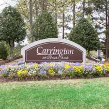 Rental info for Carrington at Brier Creek in the Raleigh area