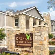 Rental info for Reserve at Garden Oaks