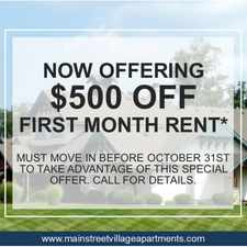 Rental info for Main Street Village Apartments