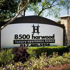 Rental info for 8500 Harwood in the 76180 area
