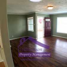 Rental info for Great house in quiet neighborhood. Washer/Dryer Hookups!