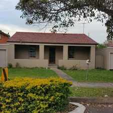Rental info for 3 BEDROOM HOUSE WITH 2 SINGLE LOCK UP GARAGES