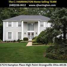 Rental info for Ohio Real Estate-17574 Hampton Pl(Strongsville, Ohio 44136)(440)336-0612 or WWW.CJHARRINGTON.COM in the Strongsville area