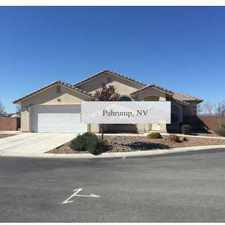 Rental info for Pahrump - in a great area. Single Car Garage!