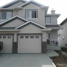 Rental info for Beautiful duplex, 1210 sq.ft. 3 bedroom, 2.5 bath, garage, MacEwan in the Anthony Henday South area