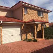 Rental info for Spacious 3 Bedroom Townhouse in the Albion Park area