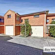 Rental info for TWO BEDROOM TOWNHOUSE IN EXCELLENT LOCATION in the Lidcombe area