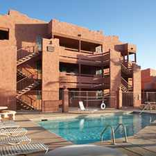 Rental info for 1 Bdrm 1 Bath Luxury -- incl Cable, central heat & air, full size washer & dryer, dog & cat friendly, large patio/balcony in the Bullhead City area