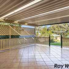 Rental info for LARGE FAMILY HOME IN QUIET POSITION in the Brisbane area