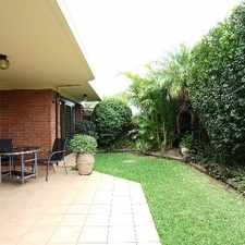 Rental info for TIDY, OVER SIZED THREE BEDROOM UNIT in the Lane Cove West area