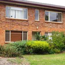 Rental info for Base of Mt Ainslie...top of the block in the Hackett area