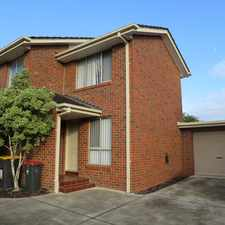 Rental info for SPACIOUS AND VERY TIDY TOWNHOUSE!! in the Melbourne area