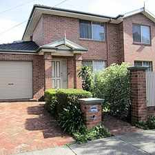 Rental info for SPACIOUS LIVING WITH OWN STREET FRONTAGE in the Melbourne area