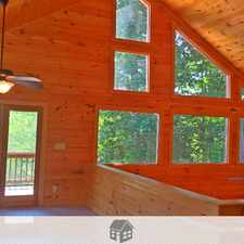 Rental info for 3 bedrooms House - Large three story cabin on wooded.