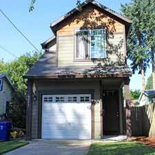 Rental info for 9513 N Todd St in the Cathedral Park area