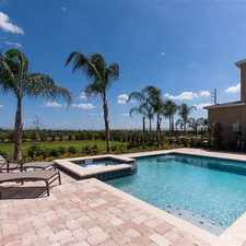 Rental info for Close to Disney! New 6 bedroom private pool home, Reunion Encore Club, water park, gym, cafe. Enjoy shuttle service, ki
