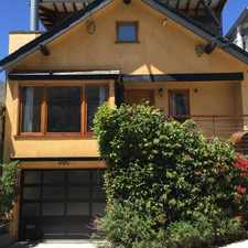 Rental info for 3 Bedroom 2.5 Bath Single Family Home - North Slope of Bernal Hill with Downtown Views in the Bernal Heights area