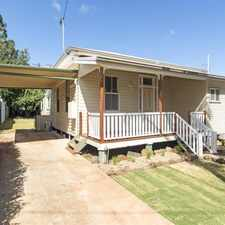 Rental info for CHARACTER AND CHARM ALL PACKED INTO THIS QUALITY RENOVATED HOME in the Toowoomba area
