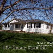 Rental info for 159 County Farm Road