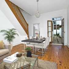 Rental info for Stunning Terrace Only Moments from The Five-Ways in the Sydney area