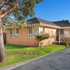 Rental info for Walking Distance to Shops & Transport UNDER APPLICATION in the Melbourne area