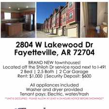 Rental info for Mathias Properties Fayetteville dba MadSky Rentals