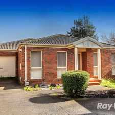 Rental info for PEACEFUL, PRIVATE AND PERFECTLY POSITIONED in the Oakleigh East area