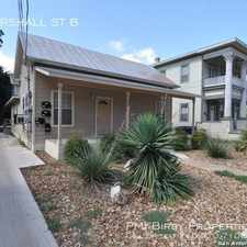 Rental info for 722 MARSHALL ST B in the San Antonio area