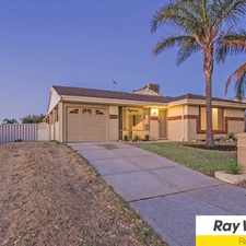 Rental info for LOVELY FAMILY HOME, CLOSE TO SCHOOLS AND SHOPS! in the Perth area