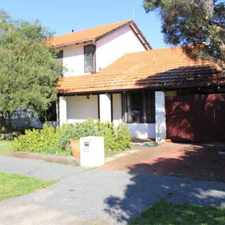 Rental info for LOW MAINTENANCE TOWNHOUSE - WELL LOCATED in the East Fremantle area