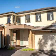 Rental info for MODERN DOUBLE STOREY RESIDENCE WITH EXTRA LARGE LIVING in the Chadstone area