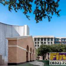 Rental info for Post Oak Blvd & Hidalgo St in the Lake Houston area