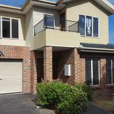 Rental info for TOWNHOUSE WITH OWN DRIVEWAY AND WALKING DISTANCE TO MONASH UNIVERSITY in the Melbourne area