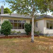 Rental info for A renovated street front 3 bedroom weatherboard home in the Melbourne area