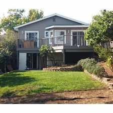 Rental info for Newly Rennovated Hillside Home with Bay Views in the Redwood Heights area