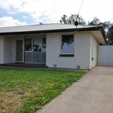 Rental info for 3 bedroom semi, floorboards throughout, separate shower & bath, gas cooking, large backyard, in the Adelaide area