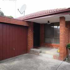 Rental info for LOW MAINTENANCE VILLA IN A PERFECT LOCATION in the Melbourne area
