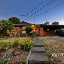 Rental info for Terrific Family Home! in the Wantirna area
