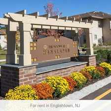 Rental info for 3 bedrooms Apartment - Located in a picturesque setting in desirable Manalapan, NJ.